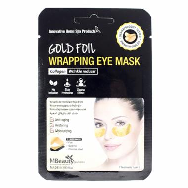 Антивозрастные золотые фольгированные патчи с коллагеном,1 пара — Gold Foil Wrapping Eye Mask