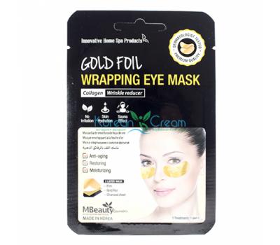 Антивозрастные золотые фольгированные патчи с коллагеном Gold Foil Wrapping Eye Mask MBeauty,1 пара
