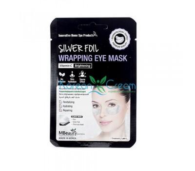 Восстанавливающие серебряные фольгированные патчи с витамином С Silver Foil Wrapping Eye Mask MBeauty