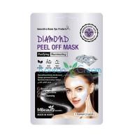 Маска-пленка с бриллиантовой пудрой для очищения пор Diamond Peel Off Mask MBeauty, 7 г х 3 шт