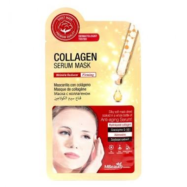 Тканевая маска с коллагеном для уменьшения морщин Collagen Serum Mask MBeauty