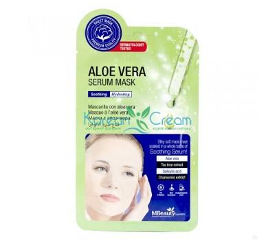 Успокаивающая тканевая маска для лица с алоэ вера Aloe Vera Serum Mask MBeauty