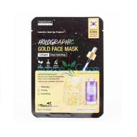Голографическая золотая маска для лица с коллагеном Holographic Gold Collagen Face Mask MBeauty, 23 мл