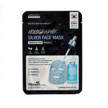 Голографическая серебряная маска для лица с гиалуроновой кислотой, 23 мл