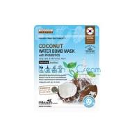 Маска тканевая с кокосовой водой и пробиотиками Coconut Water Bomb Mask With Probiotics MBeauty, 22 мл