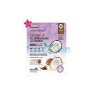 Маска тканевая с кокосовым маслом и пробиотиками Coconut Oil Serum Mask With Probiotics MBeauty, 22 мл