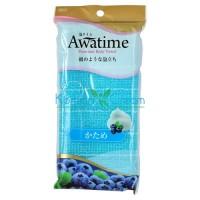 Мочалка для тела жесткая (голубая) Awa Time Body Towel Katame ОНЕ