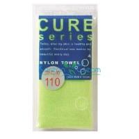 Мочалка для тела жесткая (зеленая) Cure Nylon Towel Regular (Green) ОНЕ