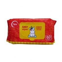 Влажные салфетки детские, 60 шт