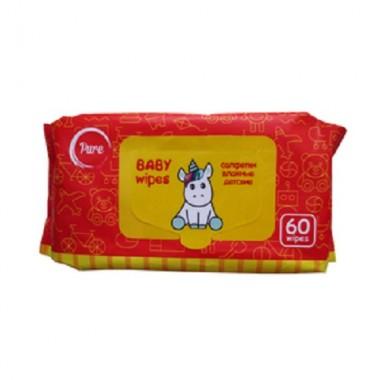 Влажные салфетки детские, 60 шт — Wet wipes