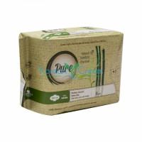 Прокладки гигиенические женские бамбуковые с углем ночные Bamboo Night Pure, 8 шт