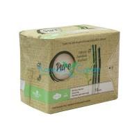 Прокладки гигиенические женские бамбуковые с углем дневные Bamboo Day Pure, 10 шт
