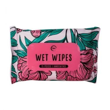 """Влажные салфетки """"Цветы"""", 15 шт — Wet wipes"""