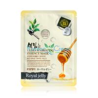 Тканевая маска для лица с  пчелиным маточным молочком Ultra Hydrating Essence Mask Royal Jelly Shelim
