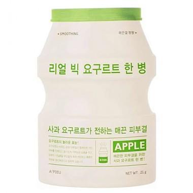 Йогуртовая маска для лица с экстрактом яблока - Real big yogurt one-bottle apple, 21мл