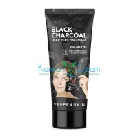 Маска-пленка с углем Black Charcoal Deep Purifying Mask-Peel-off Type Yeppen Skin, 100 г