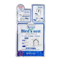 Трехэтапная маска для лица с ласточкиным гнездом 3Step Bird's Nest Mask Pack BERGAMO