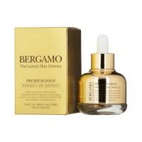 Ампульная сыворотка с золотом антивозрастная Premium Gold Wrinkle Care Ampoule BERGAMO, 30 мл