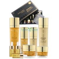 Набор средств по уходу за кожей для интенсивного восстановления Luxury Gold Set (9 pcs) BERGAMO