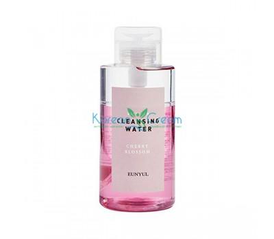 Мицеллярная очищающая двухфазная вода с вишневым цветом Micellar Cleansing Water Cherry Blossom EUNYUL, 500 мл