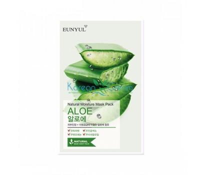 Маска тканевая с экстрактом алоэ Natural Moisture Mask Pack Aloe EUNYUL, 22 мл