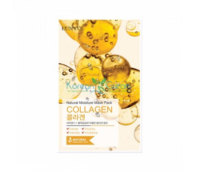 Маска тканевая с коллагеном Natural Moisture Mask Pack Collagen EUNYUL, 22 мл