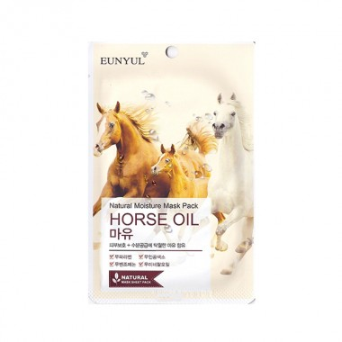 Маска тканевая с лошадиным маслом,22 мл — Natural Moisture Mask Pack Horse Oil