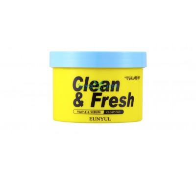 Отшелушивающие диски для обновления кожи Clean & Fresh Pimple & Sebum Clear Pad EUNYUL, 170 мл