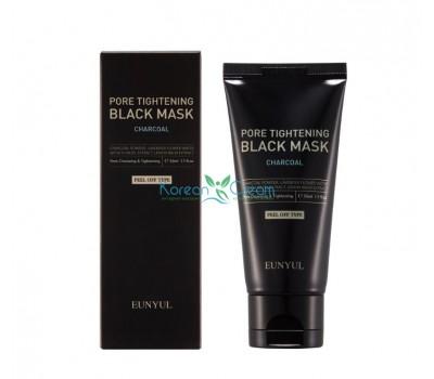 Маска-пленка сужающая поры с углем Pore Tightening Black Mask EUNYUL, 50 мл