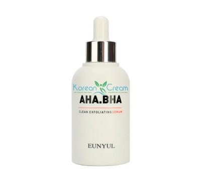 Обновляющая сыворотка с AHA и BHA кислотами AHA.BHA Clean Exfoliating Serum EUNYUL, 50 мл