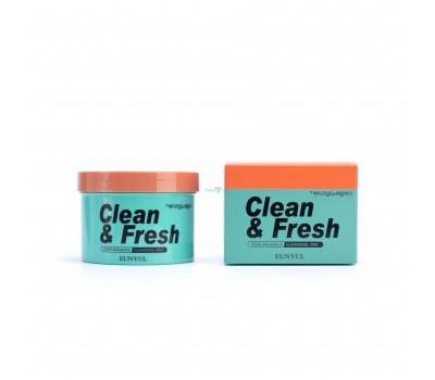 Очищающие диски для снятия макияжа Clean & Fresh Pure Radiance Cleansing Pad EUNYUL, 170 мл