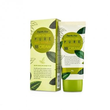 ББ крем, разглаживающий морщинки с семенами зеленого чая FarmStay, 40 г