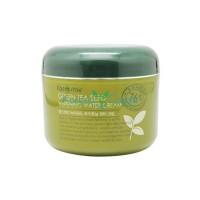 Увлажняющий крем с семенами зеленого чая, выравнивающий тон кожи, 100г, FarmStay
