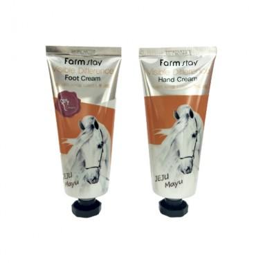 Набор: крем для рук и крем для ног с лошадиным маслом, 100г+100г, FarmStay