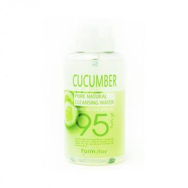 Очищающая вода с экстрактом огурца Pure Natural Cleansing Water Cucumber FarmStay, 500 мл