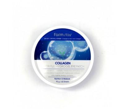 Гидрогелевые патчи для области вокруг глаз с коллагеном Collagen Water Full Hydrogel Eye Patch FarmStay, 90 гр