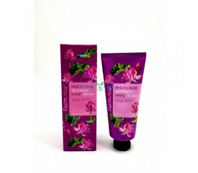 Крем для рук с экстрактом розового лотоса, 100мл, FarmStay