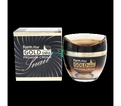 Премиальный крем с золотом и муцином улитки, 50мл, FarmStay