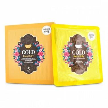Гидрогелевая маска для лица с коллоидным золотом и пчелиным маточным молочком — Gold & Royal Jelly Hydro Gel Mask