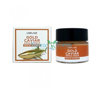 Ампульный крем с экстрактом икры Gold Caviar Ampule Cream LEBELAGE, 70 мл
