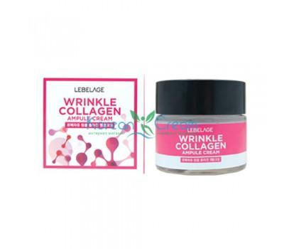 Ампульный крем антивозрастной с коллагеном Wrinkle Collagen Ampule Cream LEBELAGE, 70 мл