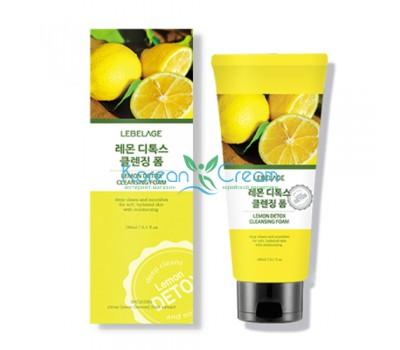 Детокс-пенка для умывания с лимоном Lemon Detox Cleansing Foam LEBELAGE, 180 мл