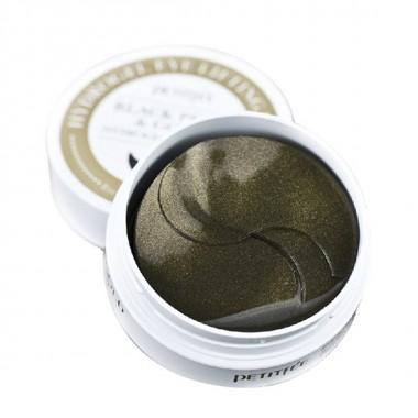 Гидрогелевые патчи для области вокруг глаз с пудрой чёрного жемчуга и золотом, 60 шт — Black Pearl & Gold Hydrogel Eye Patch