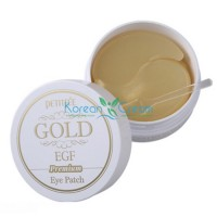 Гидрогелевые патчи для области вокруг глаз с золотом и EGF Gold & EGF Premium Hydrogel Eye Patch PETITFEE, 60 шт