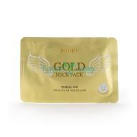 Гидрогелевая маска для шеи с золотом для упругой и гладкой кожи Gold Neck Pack For Firming & Silky Smooth Neck PETITFEE