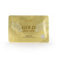 Гидрогелевая маска для шеи с золотом для упругой и гладкой кожи, 10 г