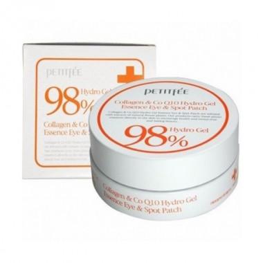 Гидрогелевые патчи для области вокруг глаз с коэнзимом Q10 и 98% содержанием коллагена, 60 шт — 98% Collagen & CoQ10 Hydrogel Patch