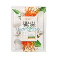 Тканевая маска с аминокислотами шелка Silk Amino Serum Mask PETITFEE