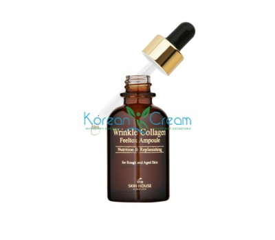 Антивозрастная ампульная сыворотка с коллагеном Wrinkle Collagen Ampoule The Skin House, 30 мл