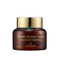 Антивозрастной питательный крем с коллагеном Wrinkle System Cream The Skin House, 50 гр